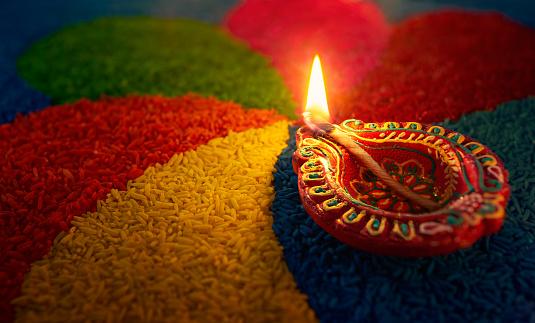 Diwali oil lamp 588223710