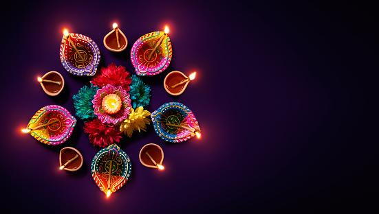 Diwali oil lamp 803533956