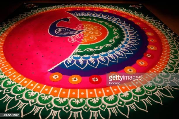 Diwali rangoli drawn by artist Janak Chauhan United kingdom