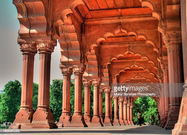 diwan-i-aam, red fort, delhi - delhi stock pictures, royalty-free photos & images