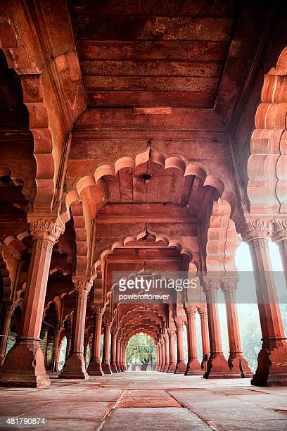 diwan-i-am at the red fort in delhi, india - delhi stock pictures, royalty-free photos & images