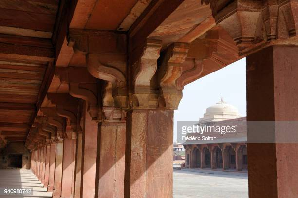 Diwan-i-Khas, Private Audience Hall or Jewel House. Fatehpur Sikri, founded in 1569 by the Mughal Emperor Akbar, served as the capital of the Mughal...