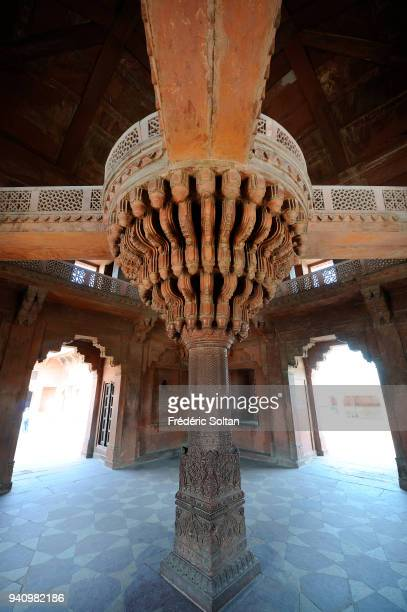 Diwan-i-Khas, Private Audience Hall or Jewel House in Fatehpur Sikri, founded in 1569 by the Mughal Emperor Akbar, served as the capital of the...