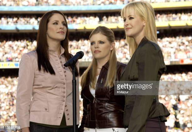 Dixie Chicks during Super Bowl XXXVII Pregame Show at Qualcomm Stadium in San Diego California United States