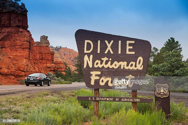 dixie national park entrance sign, utah - entrance sign stock pictures, royalty-free photos & images