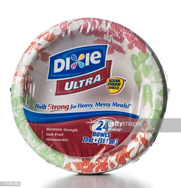 dixie ultra 24 bowls package - paper plate stock photos and pictures