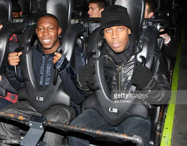 ACCESS** Dizzee Rascal and Lemar attend the launch of SAW Alive the world's most extreme live horror maze at Thorpe Park on March 9 2010 in Chertsey...