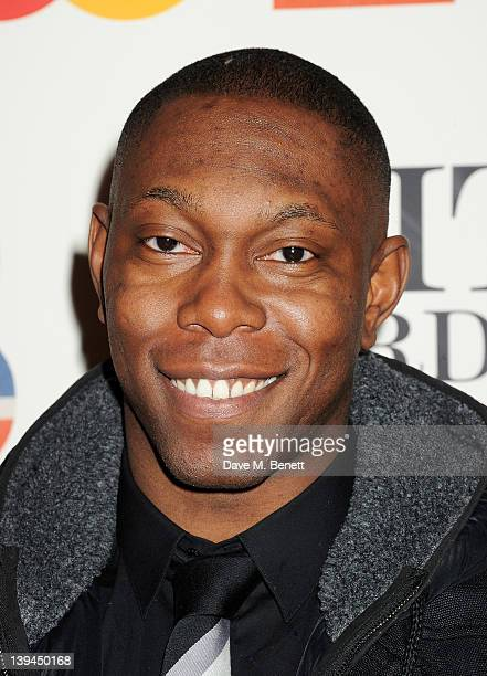 Dizzee Rascal arrives at the BRIT Awards 2012 at O2 Arena on February 21 2012 in London England