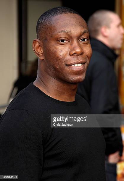 Dizzee Rascal arrives at the world premiere gala screening of The Infidel held at the Hammersmith Apollo on April 8 2010 in London England at...