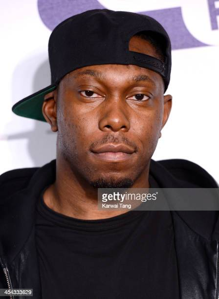 Dizzee Rascal attends on day 2 of the Capital FM Jingle Bell Ball at the 02 Arena on December 8 2013 in London England