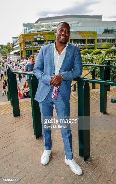 Dizzee Rascal attends the evian Live Young suite during Wimbledon 2017 on July 11 2017 in London England