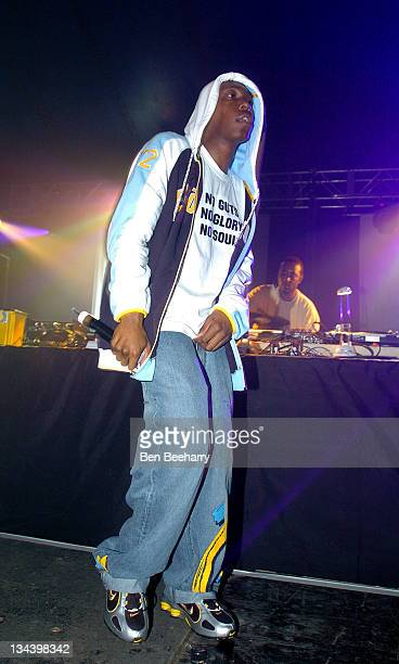 Dizzee Rascal during 2004 We Love Homelands at Matterley Bowl in Winchester Great Britain