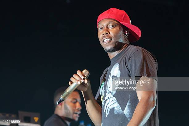 Dizzee Rascal of performs on stage during Kendal Calling at Lowther Deer Park on July 28 2012 in Kendal United Kingdom