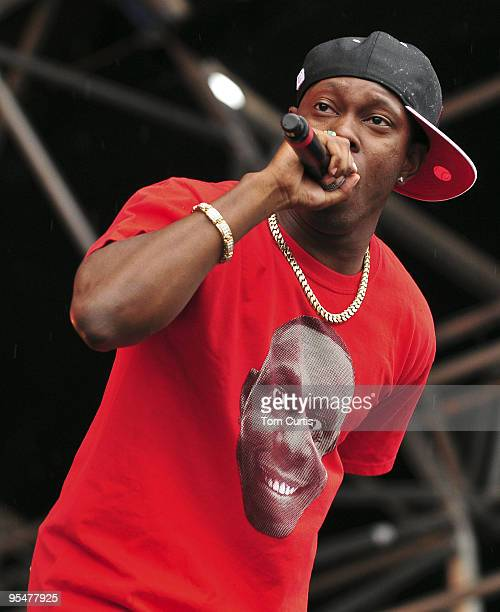 Dizzee Rascal performs at Party in the Park on July 26 2009 in Leeds England