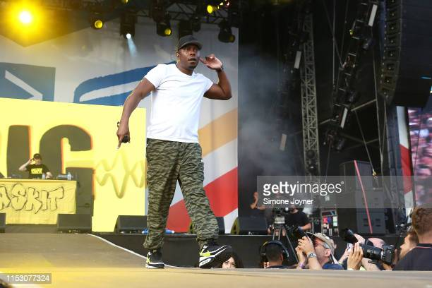 Dizzee Rascal performs live on stage during the All Points East Festival at Victoria Park on June 01 2019 in London England