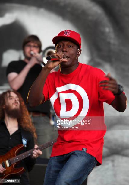 Dizzee Rascal performs live on the Main stage during day Two of Reading Festival on August 28 2010 in Reading England