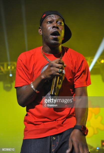 Dizzee Rascal performs on stage at Brixton Academy on October 22 2009 in London England