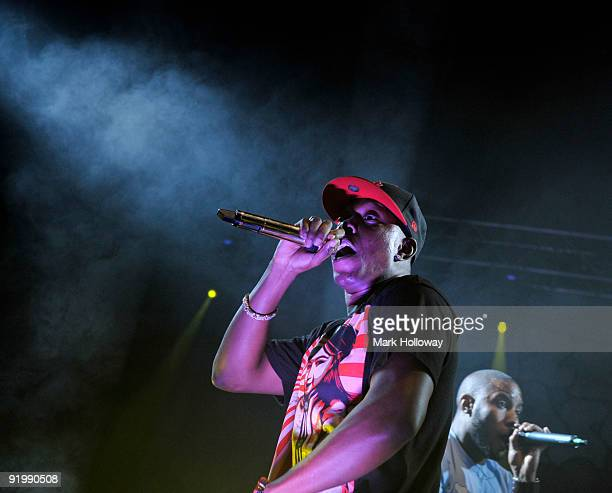 Dizzee Rascal performs on stage at O2 Academy on October 14 2009 in Bournemouth England