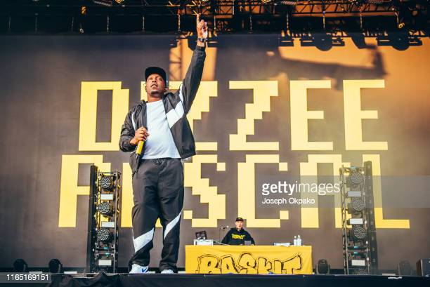 Dizzee Rascal performs on stage during day 2 of Fusion Festival 2019 on August 31 2019 in Liverpool England