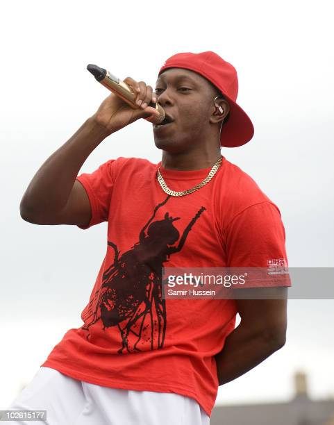 Dizzee Rascal performs on the main stage at T4 On The Beach on July 4 2010 in WestonsuperMare England