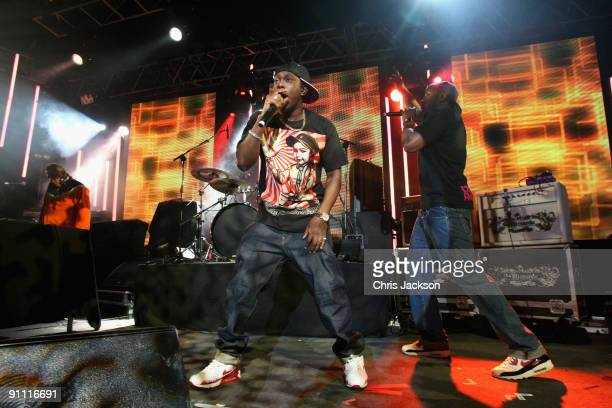 Dizzee Rascal performs onstage for the Arthurs Day Guinness 250th Anniversary Celebration held at Vicar Street on September 24 2009 in Dublin Ireland...