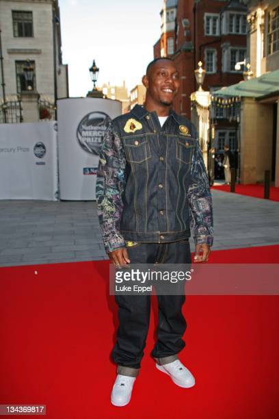 Dizzie Rascal arriving at the Nationwide Mercury Prize on September 4 2007 at the Grovesnor House Hotel in London England