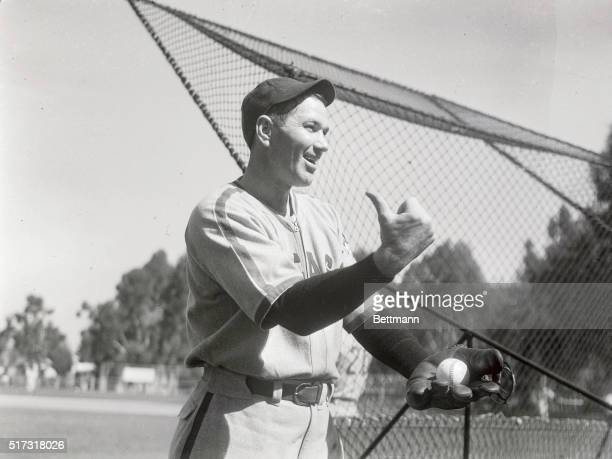 Dizzy Dean Chicago Cubs Hurler shown during an early spring training workout at the Cub's camper here