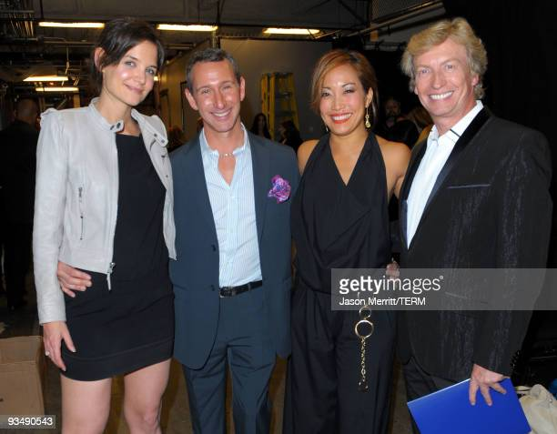 Dizzy Feet Foundation founding members actress Katie Holmes, choreographer Adam Shankman, actress Carrie Ann Inaba and producer Nigel Lythgoe...