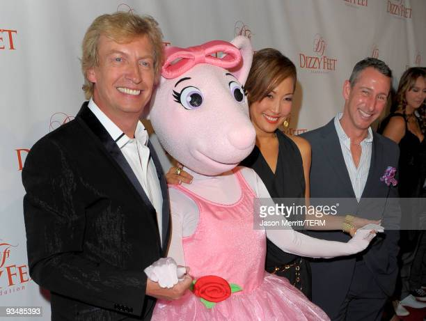 Dizzy Feet Foundation founding members Nigel Lythgoe Angelina Ballerina Carrie Ann Inaba and Adam Shankman arrive at the Dizzy Feet Foundation's...