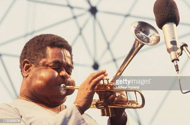Dizzy Gillespie performs on stage at the Capital Jazz Festival London 1982