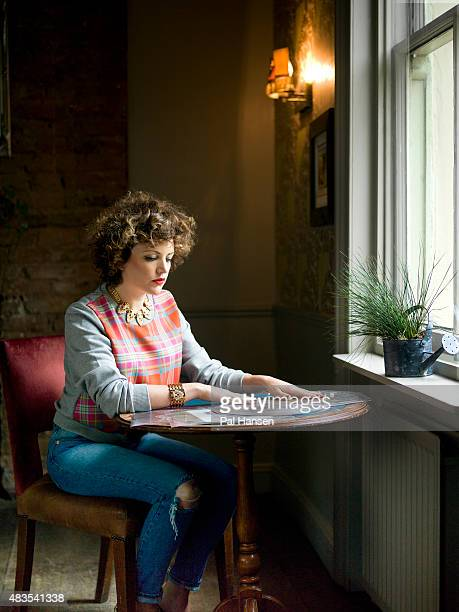 Dj and broadcaster Annie Mac is photographed for FHM Magazine on October 14 2014 in London England