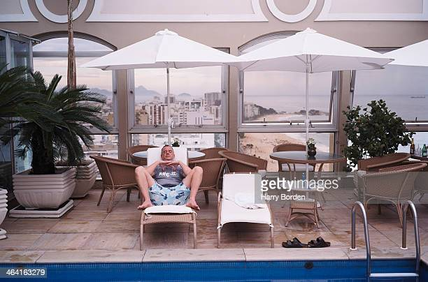 Dj and producer Norman Cook is photographed for the Observer on March 3 2004 in Rio de Janeiro Brazil