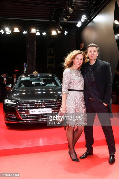 Dj and singer Michi Beck and his wife Ulrike Fleischer arrive at the 24th Opera Gala at Deutsche Oper Berlin on November 4 2017 in Berlin Germany