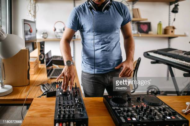 dj at home recording studio - producer stock pictures, royalty-free photos & images