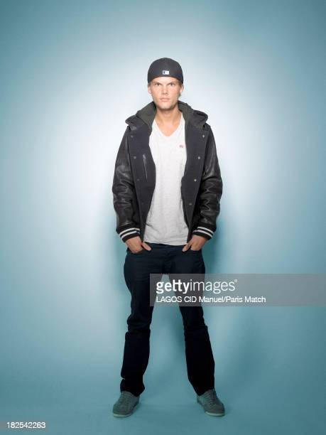 Dj Avicii aka Tim Bergling is photographed for Paris Match on September 10 2013 in Paris France