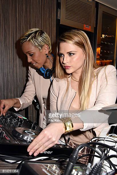 Dj Ayane and Kelly Vedovelli perform during the 'M.Georges Restaurant' : Opening Party - Paris Fashion Week Womenswear Fall/Winter 2016/2017 on March...