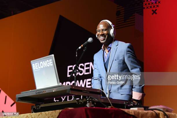 Dj Bambam Belonge performes onstage during the 2018 Essence Festival presented by CocaCola at Ernest N Morial Convention Center on July 6 2018 in New...