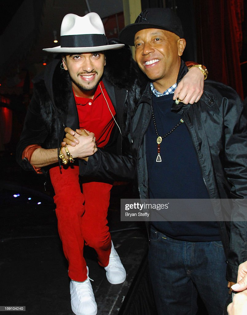 Dj Cassidy (L) and Russell Simmons appear at the MediaLink CES Kickoff event at the Tryst nightclub at Wynn Las Vegas on January 7, 2013 in Las Vegas, Nevada.