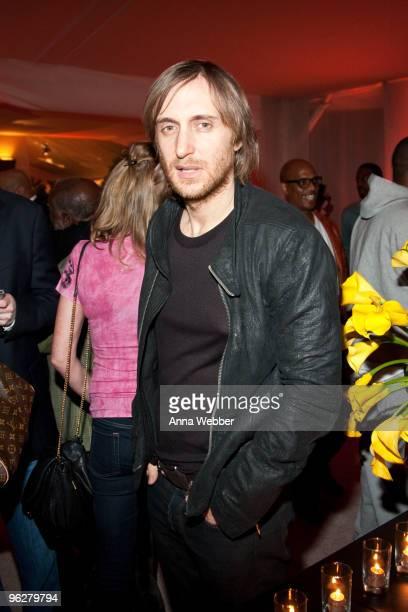 Dj David Guetta attends L'Ermitage on January 29 2010 in Los Angeles California