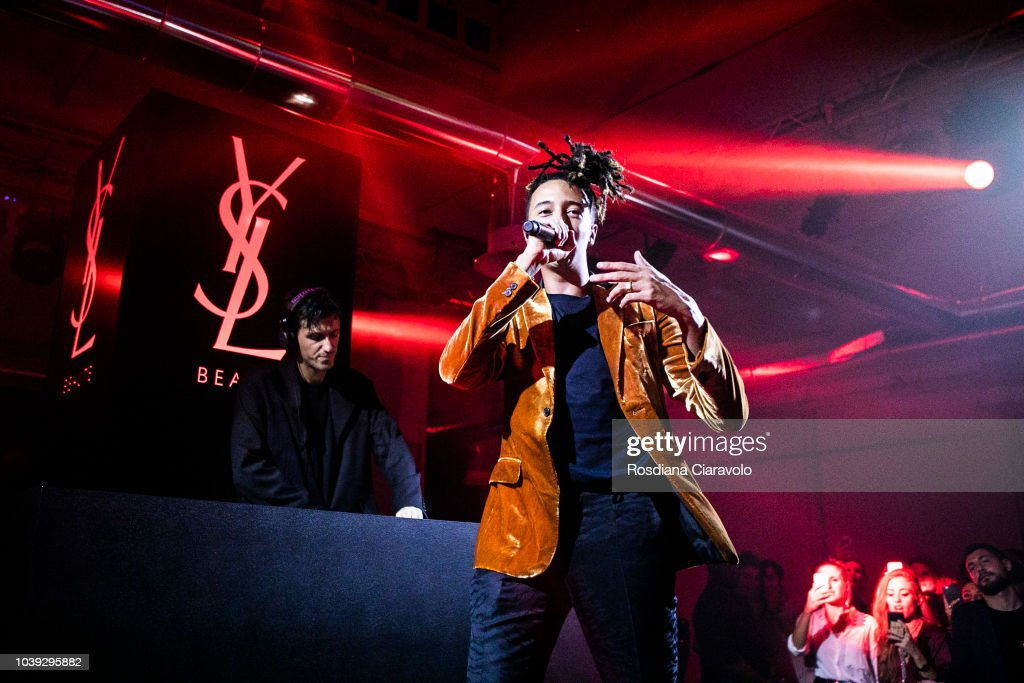 Dj Dev And Italian Rapper Ghali Perform At Ysl Beauty Club Milan News Photo Getty Images