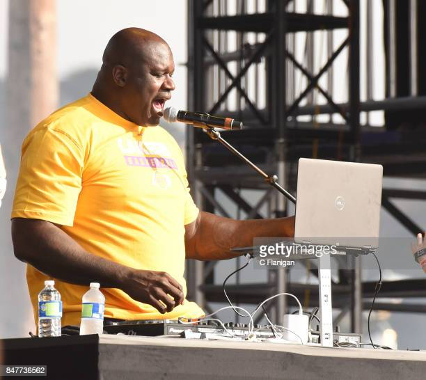 Dj Diesel aka Shaquille O'Neal performs during KAABOO Del Mar at the Del Mar Fairgrounds on September 15 2017 in Del Mar California