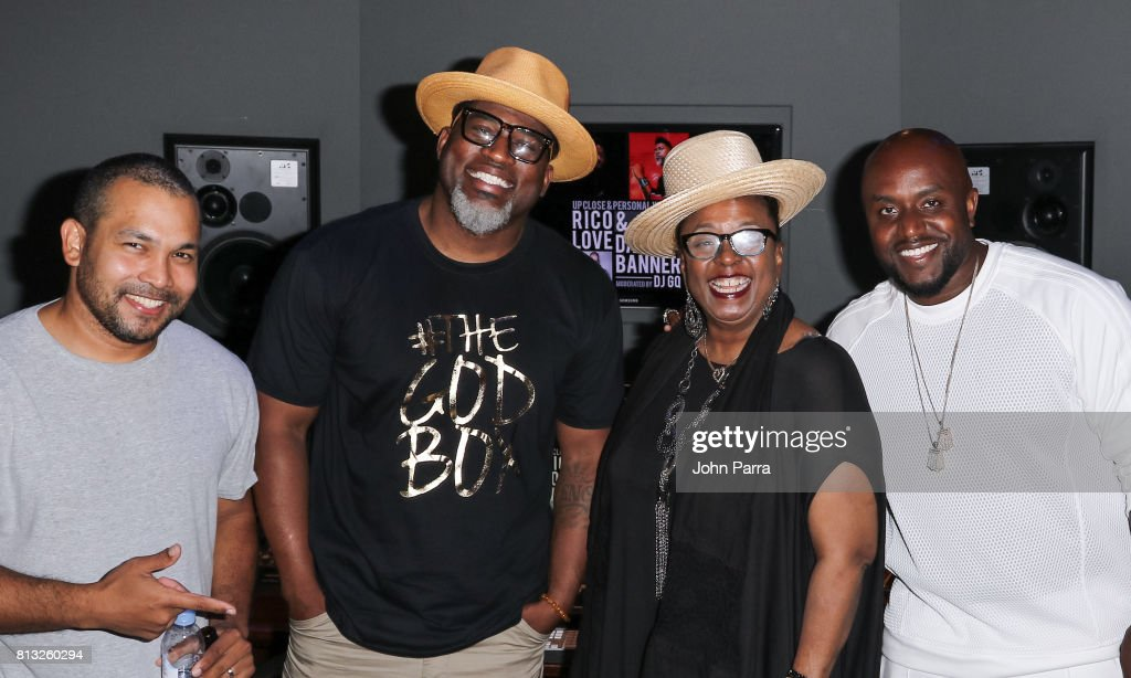 Dj GQ, David Banner, Betty Wright and Rico Love attend the Up Close & Personal with Rico Love and David Banner for The Recording Academy at Studio 26 on July 11, 2017 in Miami, Florida.