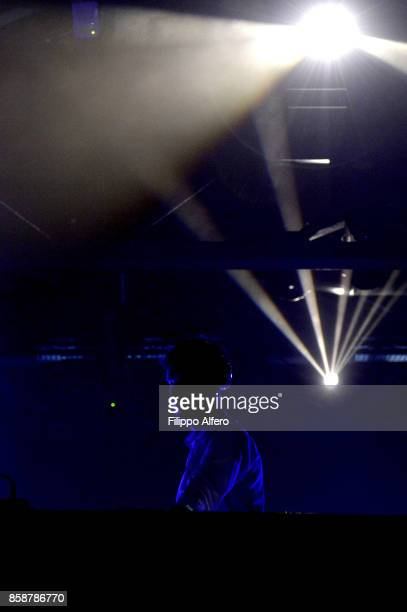 Dj Guido Savini performs live on stage during Club to Club Sound System at the OGR Big Bang event on October 7 2017 in Turin Italy