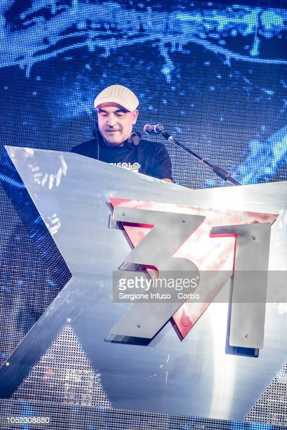 Dj Jad performs on stage at Fabrique Club for JAx on October 16 2018 in Milan Italy