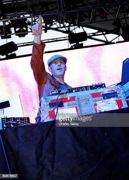 Dj Junkie XL performs during day 1 of the Coachella Valley Music and Arts Festival at the Empire Polo Field on April 26 2008 in Indio California