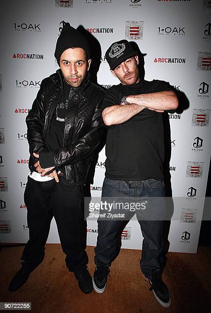 Dj Juss Ske and Alchemist attend the 2009 MTV Video Music Awards after party at 1OAK on September 13 2009 in New York City