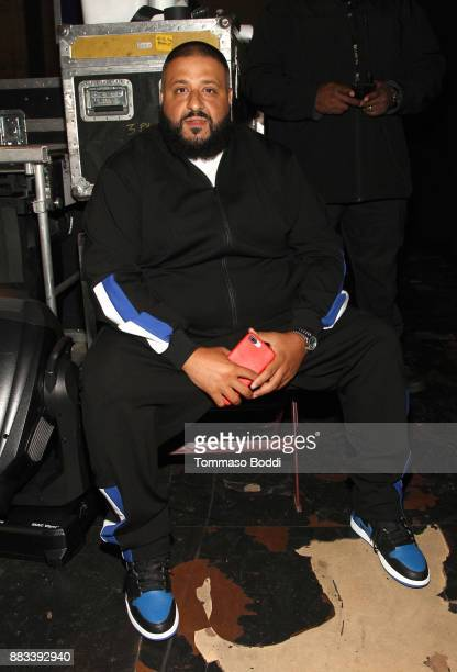 Dj Khaled attends the AHF World AIDS DAY Concert and 30th Anniversary Celebration featuring Mariah Carey and DJ Khaled at the Shrine Auditorium on...