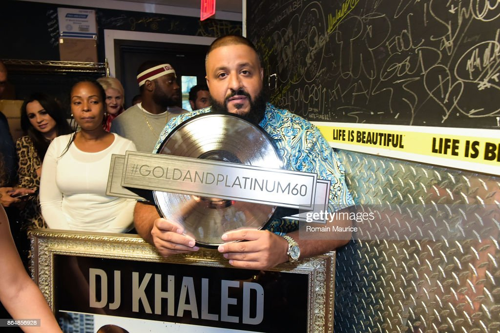 Dj Khaled attends Tot Living By Haute Living Celebrates Asahd's First Birthday With Cybex on October 21, 2017 in Miami, Florida.