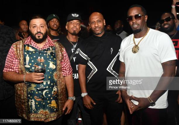 September 15: Dj Khaled, Dallas Austin, Alex Gidewon and Sean Combs attend the Official Revolt Summit after party at Compound on September 15, 2019...