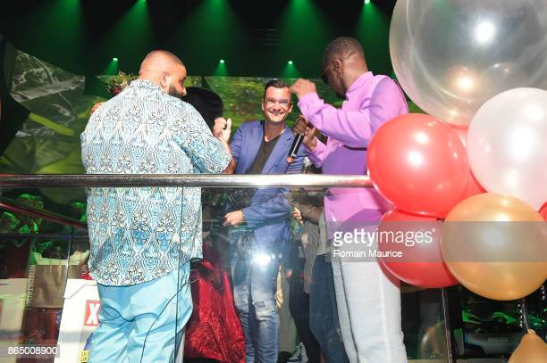 Dj Khaled Martin Pos puff Daddy attends Tot Living By Haute Living Celebrates Asahd's First Birthday With Cybex on October 21 2017 in Miami Florida